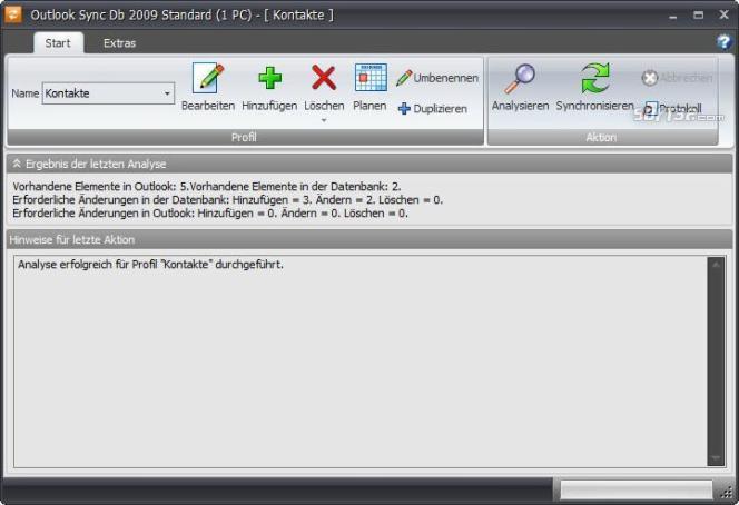 Outlook Sync Db 2009 Screenshot 2
