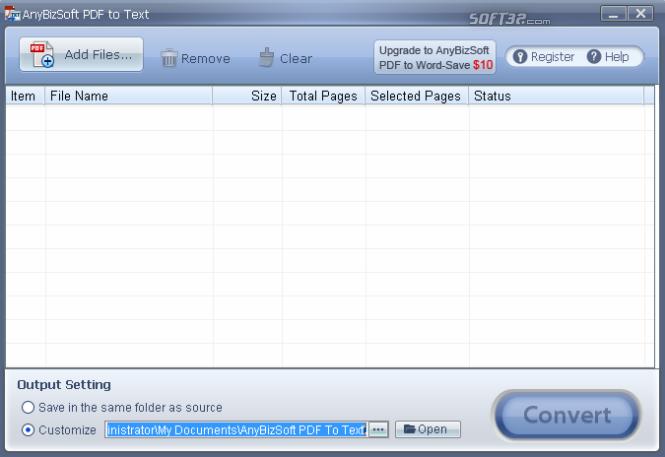 AnyBizSoft Free PDF to Text Converter Screenshot 2