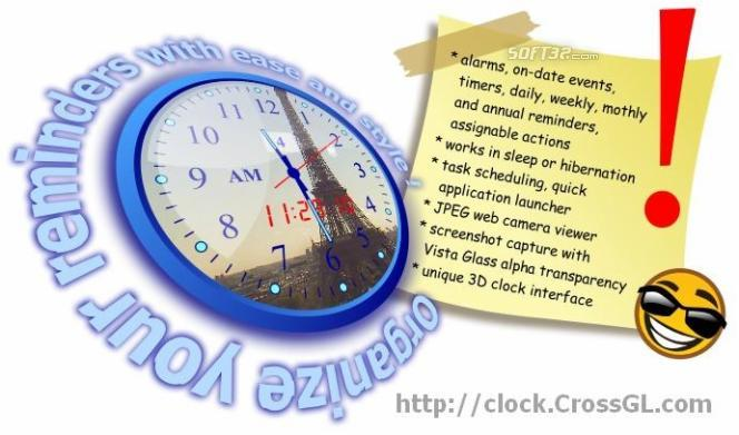 CrossGL Reminder Clock Screenshot 2