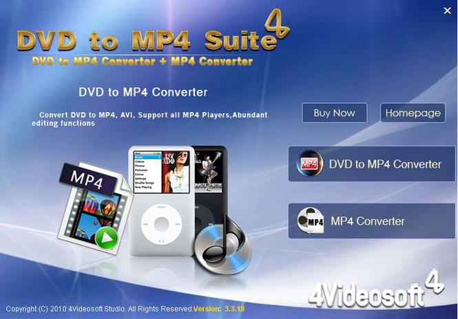 4Videosoft DVD to MP4 Suite Screenshot 2