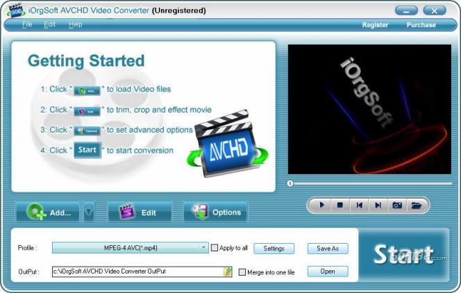AVCHD Video Converter Screenshot 2
