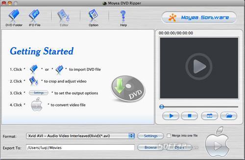 Moyea DVD Ripper for Mac Screenshot 2