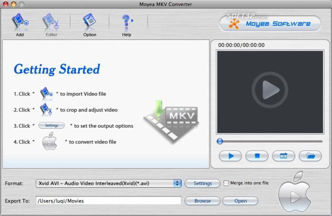 Moyea MKV Converter for Mac Screenshot 2