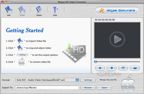 Moyea HD Video Converter for Mac Screenshot 2