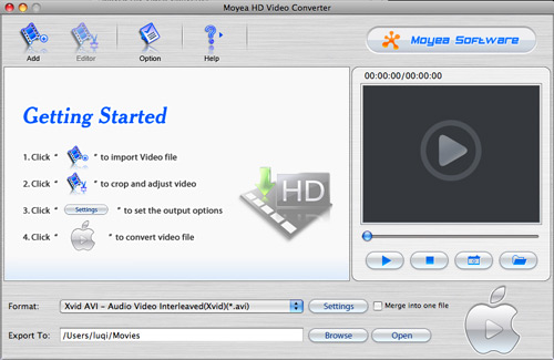 moyea hd video converter for mac