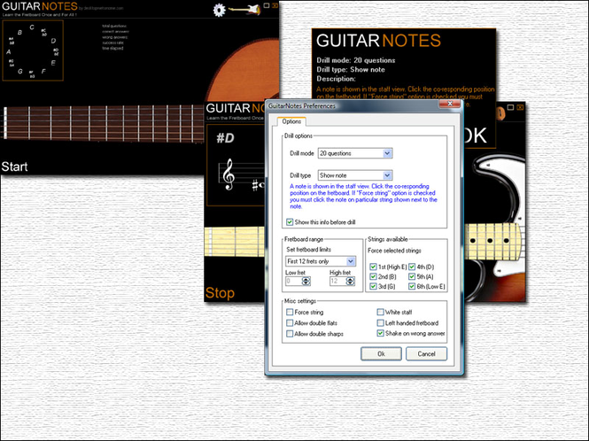 Desktopmetronome Guitar Notes Screenshot 1