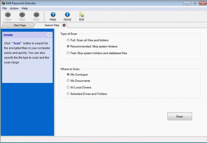 RAR Password Unlocker Screenshot 3