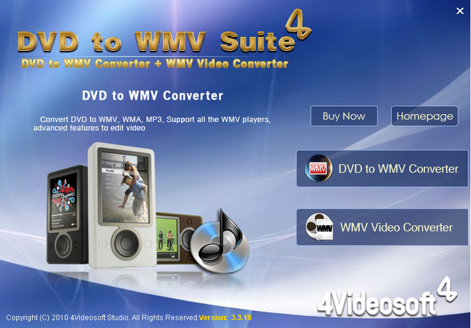 4Videosoft DVD to WMV Suite Screenshot 1