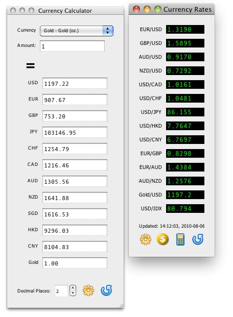 Easy Currencies for Mac Screenshot