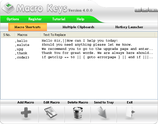 Macro Keys Screenshot