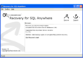 Recovery for SQL Anywhere 1