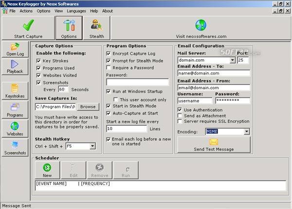 Neox Keylogger Screenshot 1