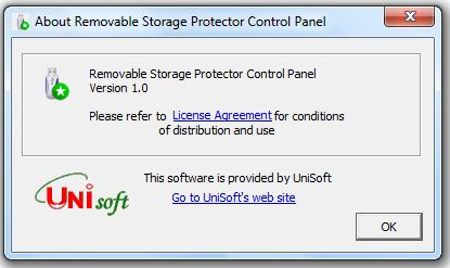 UniSoft Removable Storage Protector Screenshot