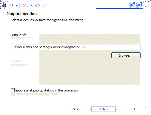 PDF Signature Signer Screenshot