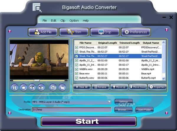 Bigasoft Audio Converter Screenshot 3