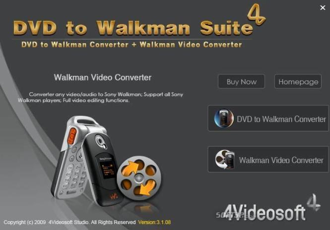 4Videosoft DVD to Walkman Suite Screenshot 2