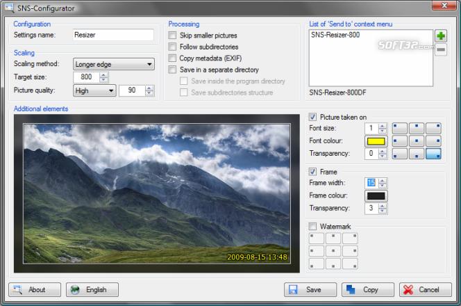 SNS-Resizer Screenshot 2