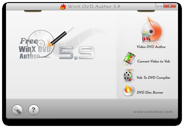 WinX DVD Author Screenshot 2