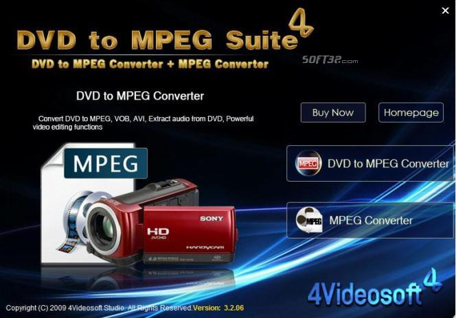 4Videosoft DVD to MPEG Suite Screenshot 2