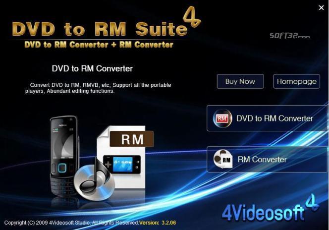 4Videosoft DVD to RM Suite Screenshot 2