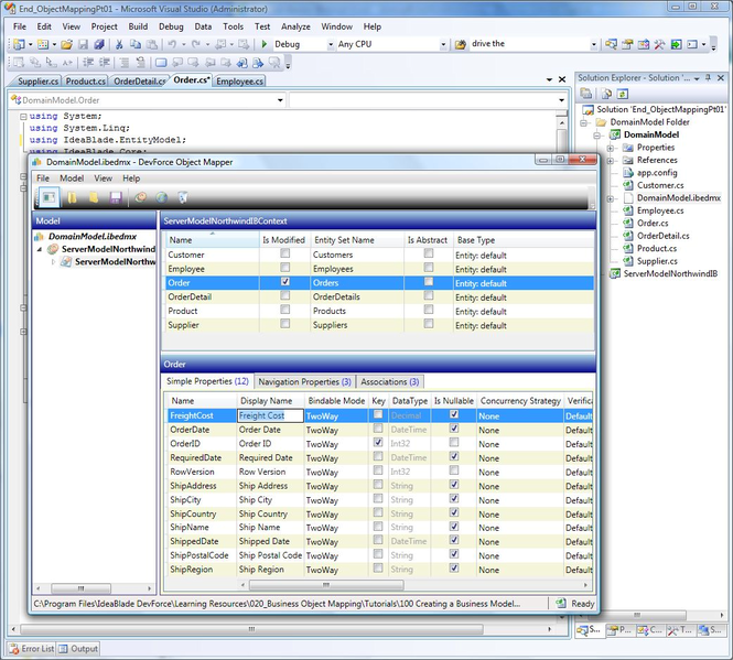 DevForce Silverlight Screenshot