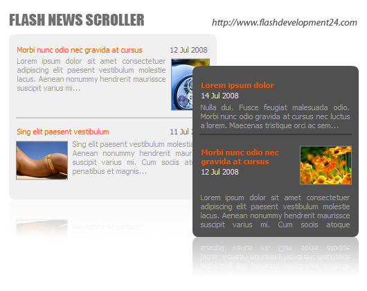 Flash Scroller for News Screenshot 1