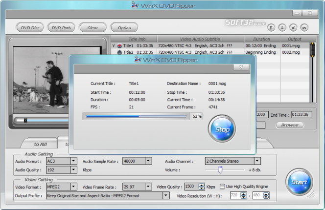 WinX Free DVD Ripper Screenshot 3