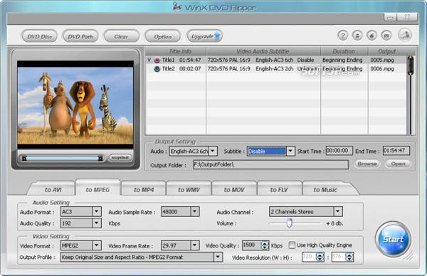 WinX Free DVD Ripper Screenshot 5