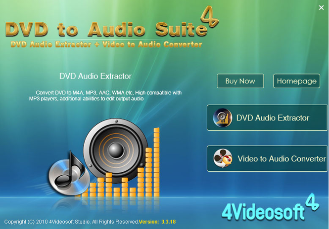 4Videosoft DVD to Audio Suite Screenshot