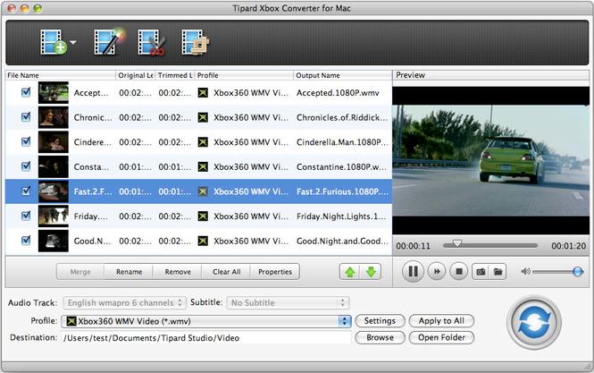 Tipard Xbox Converter for Mac Screenshot
