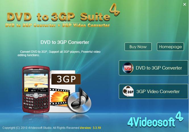 4Videosoft DVD to 3GP Suite Screenshot