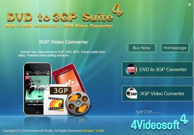 4Videosoft DVD to 3GP Suite Screenshot 3