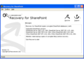 Recovery for SharePoint 1