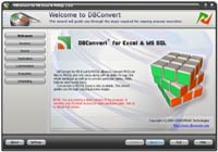 DBConvert for Excel & MS SQL Screenshot