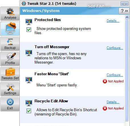 TweakStar Screenshot