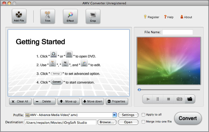 AMV Converter for Mac Screenshot