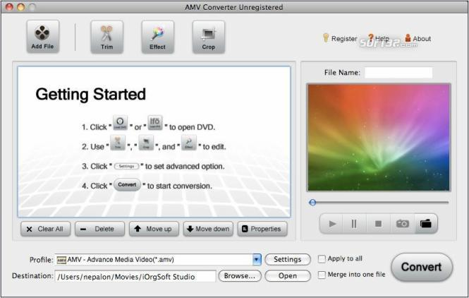 AMV Converter for Mac Screenshot 3