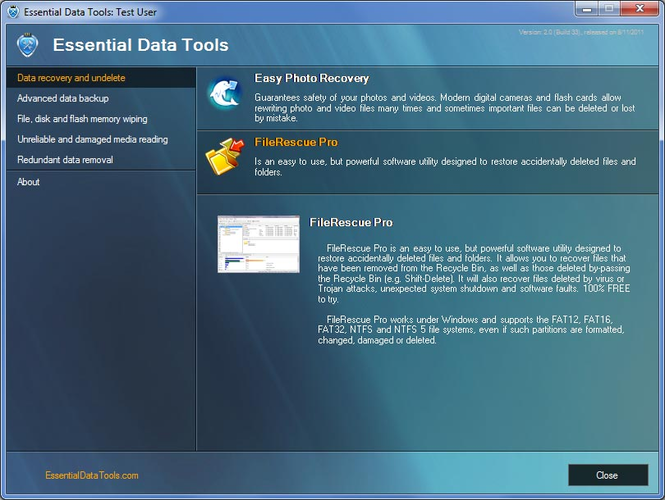 Essential Data Tools Screenshot