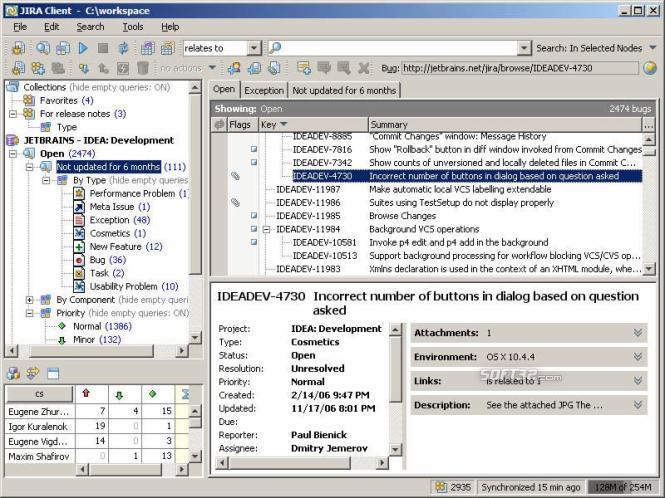 JIRA Client Screenshot 3