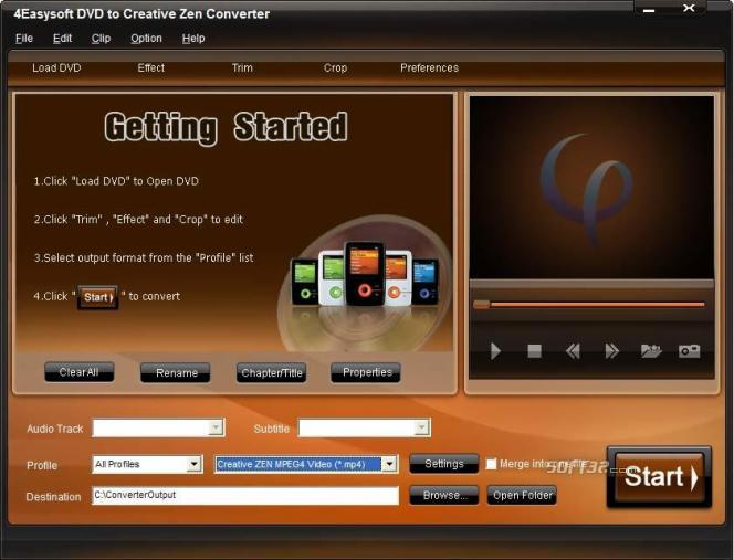4Easysoft DVD to Creative Zen Converter Screenshot 3