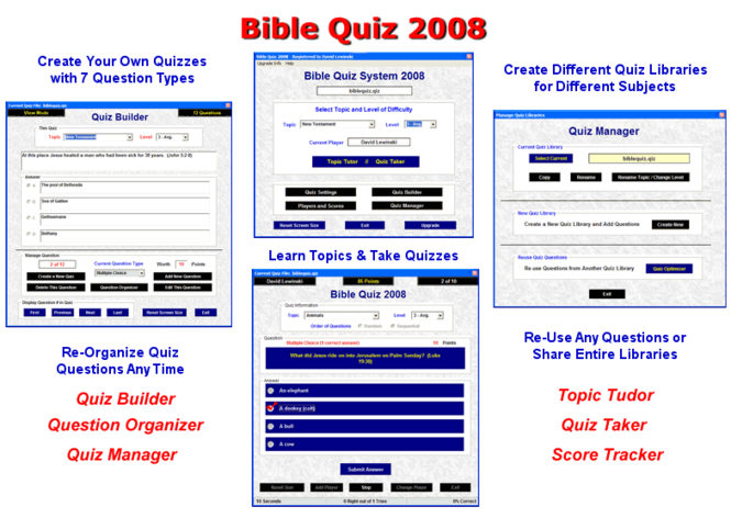 Bible Quiz Deluxe Suite Screenshot