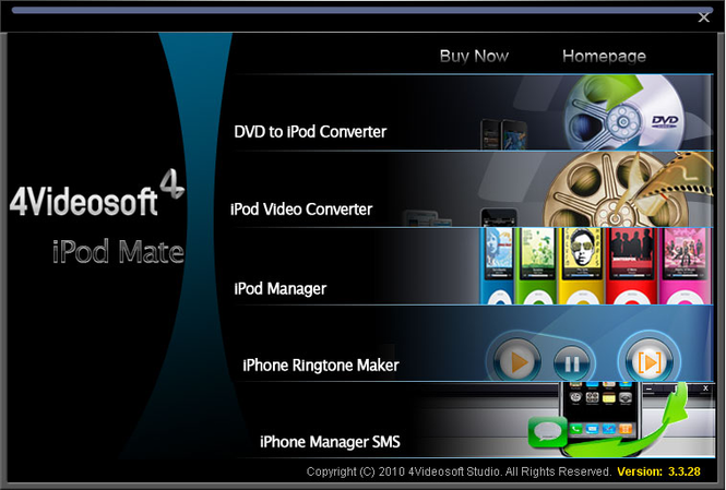 4Videosoft iPod Mate Screenshot
