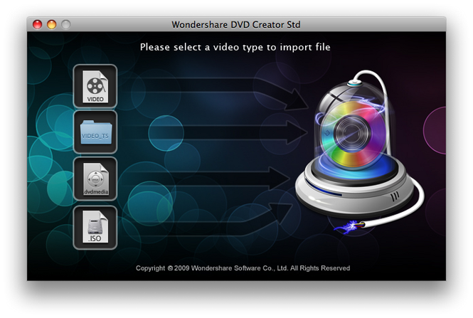 Wondershare DVD Creator Std for Mac Screenshot