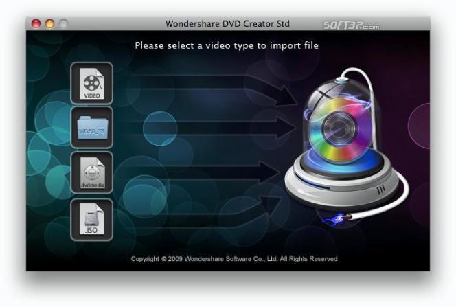 Wondershare DVD Creator Std for Mac Screenshot 2