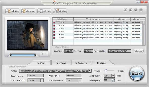 WinX Apple Video Converter Screenshot 1
