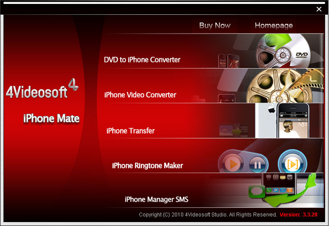 4Videosoft iPhone Mate Screenshot