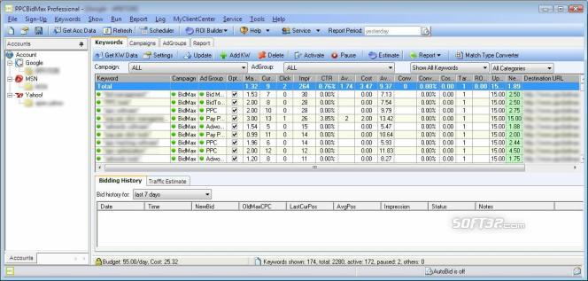 PPC BidMax Screenshot 2