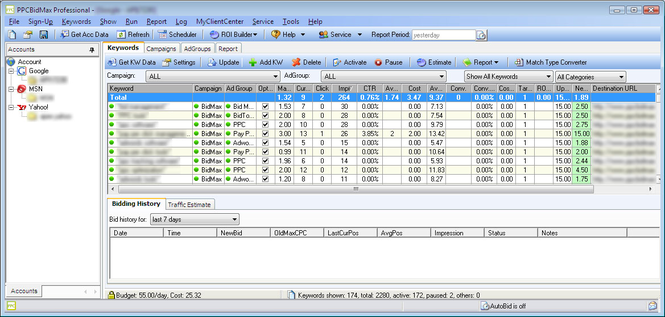 PPC BidMax Screenshot