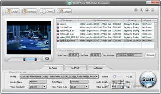 WinX Zune Video Converter Screenshot 2