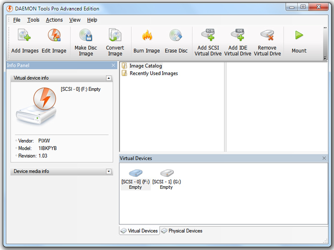 DAEMON Tools Pro Screenshot